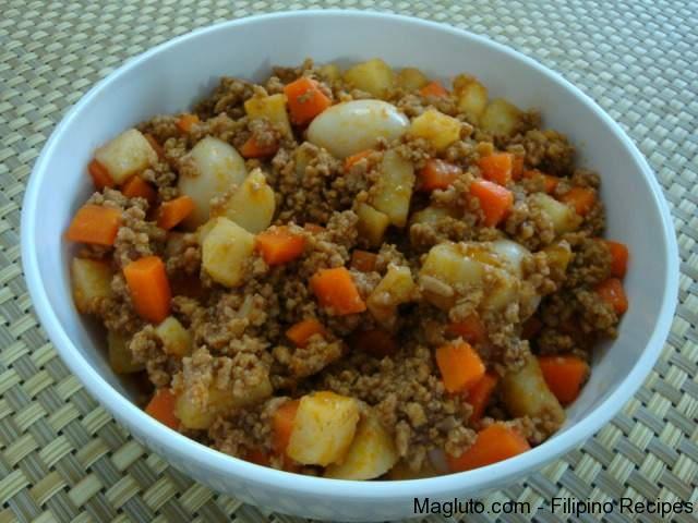 Filipino Recipe Picadillo (Giniling na Baka) « Magluto.com ...