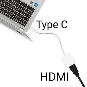 Convertisseur Display Type C en HDMI pour MacBook, HP