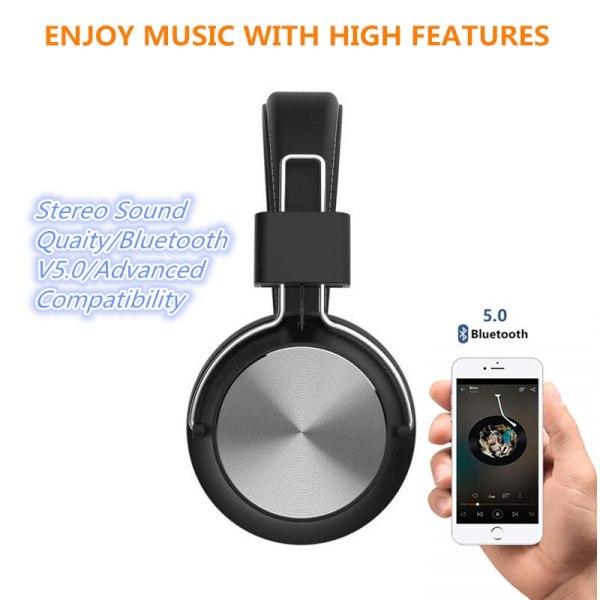 SODO SD-1001 casque Bluetooth casque supra-auriculaire filaire sans fil pliable Bluetooth 5.0 casque stéréo avec micro prise en charge carte SD