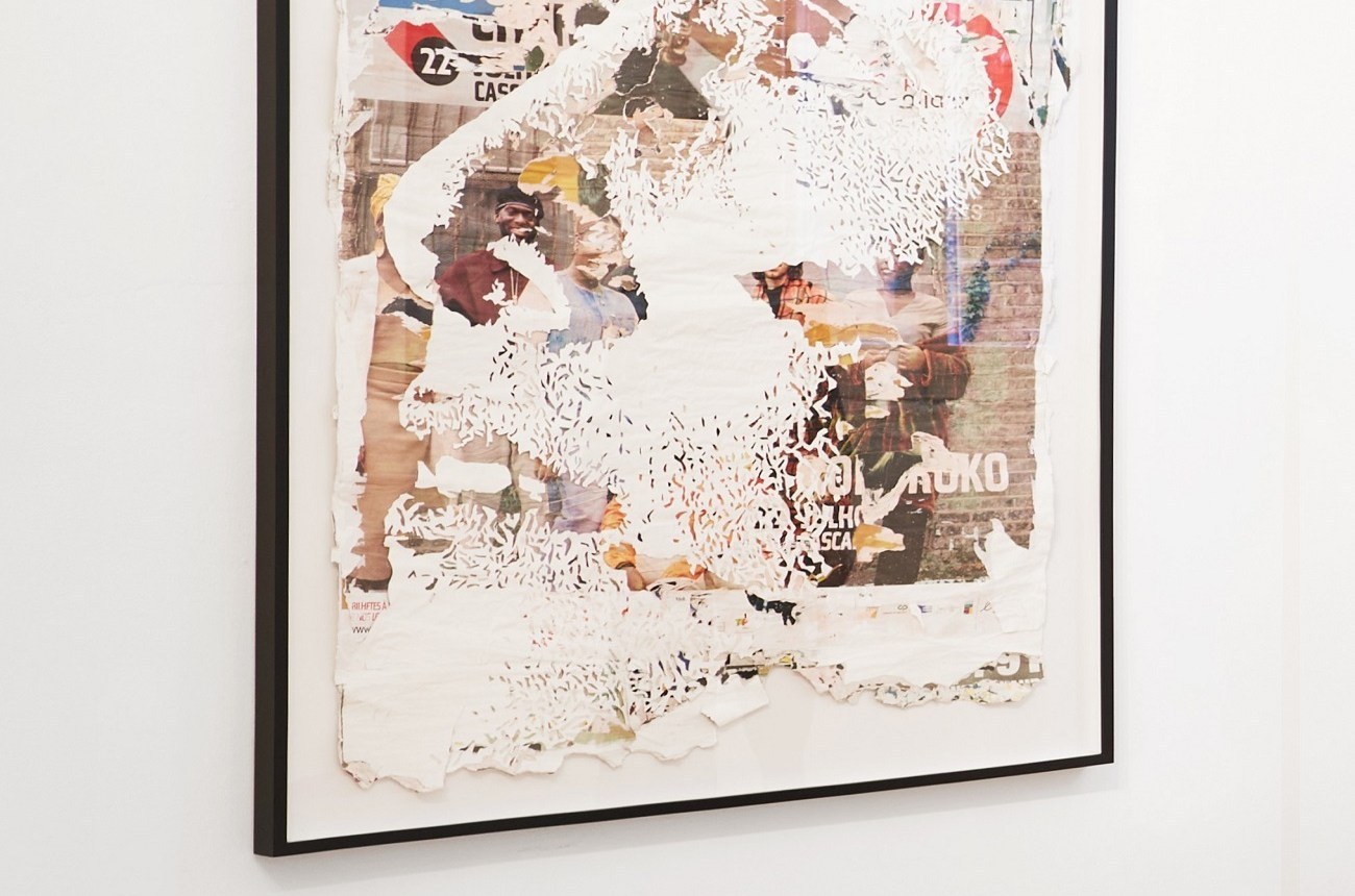 Accretion Series #9 Vhils hand-carved posters Magma gallery