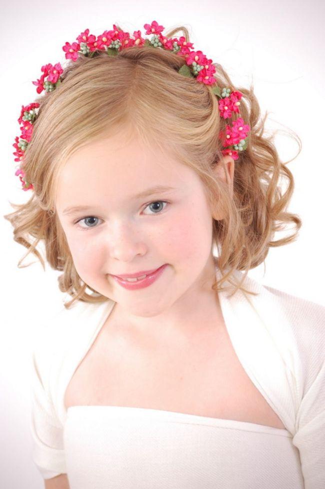 Kids Flower Girl Hairstyles Short Hair