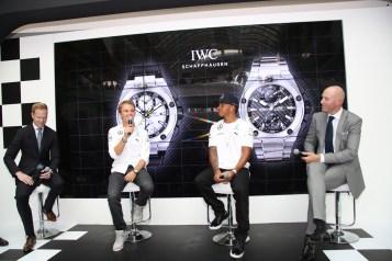 Présentation des montres IWC de Lewis Hamilton et Nico Rosberg