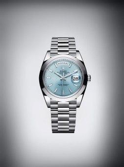Rolex Day-Date 40 en platine - Baselworld 2015
