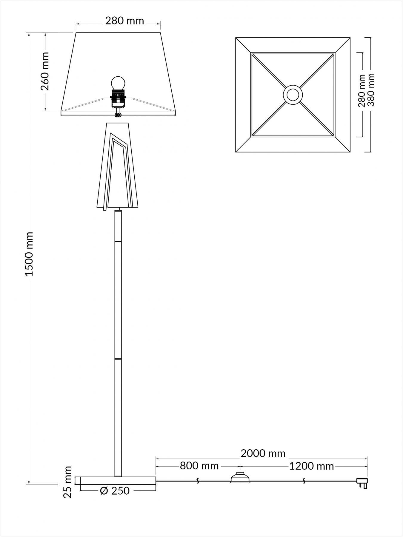 Plaza Polished Chrome Floor Lamp C W Square Shade