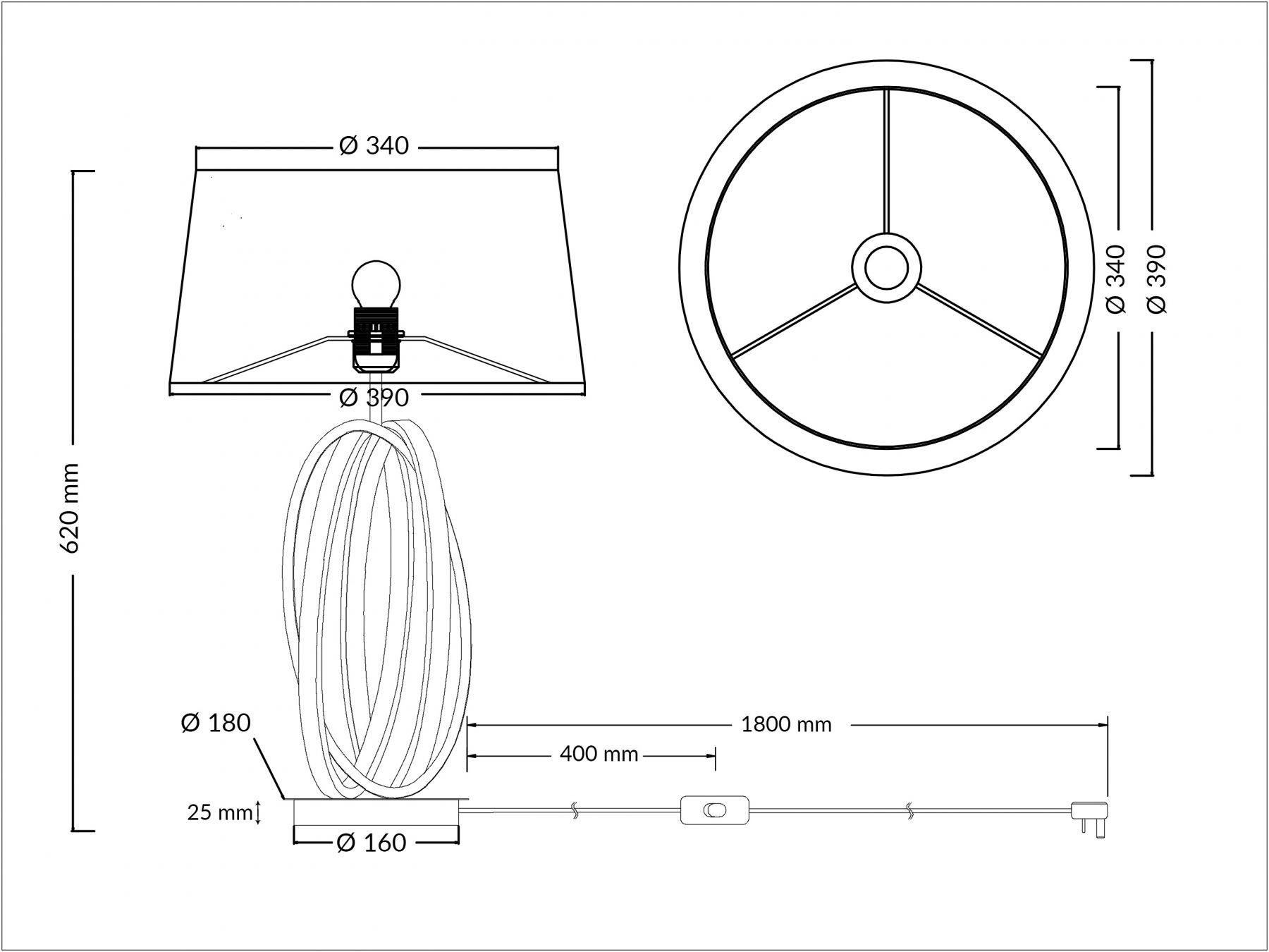 Trinity Table Lamp Polished Chrome C W Shade