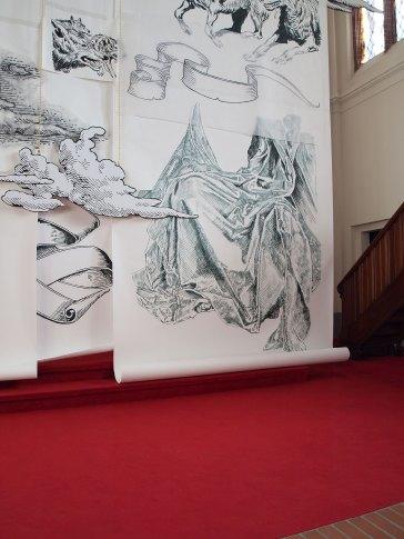 Hannah Dougherty, 2016, Altarverhüllung in der Paul-Gerhardt-Kirche, Berlin - Prenzlauer Berg