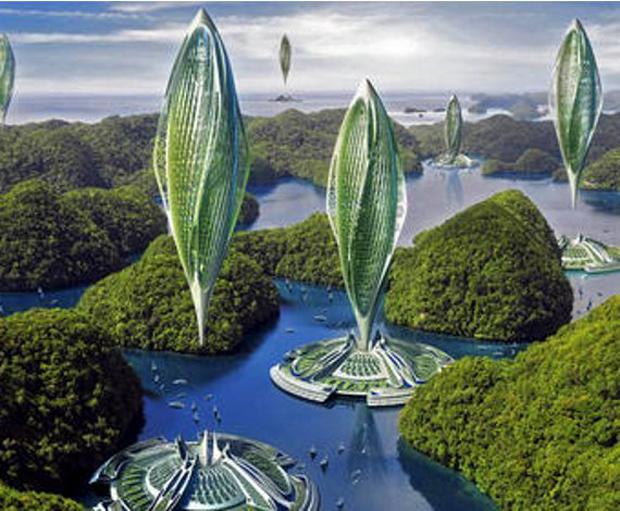 Ideada por Vincent Callebaut, Hydrigenase es una de estas ciudades sostenibles. La urbe poría llegar a elevarse hasta los 2.000 metros a 175 km/ h en caso de desastre natural, tan solo propulsada por su propio biohidrógeno.