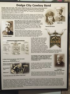 Museum Display About The Dodge City Cowboy Band. Links to full-sized image (I hope).