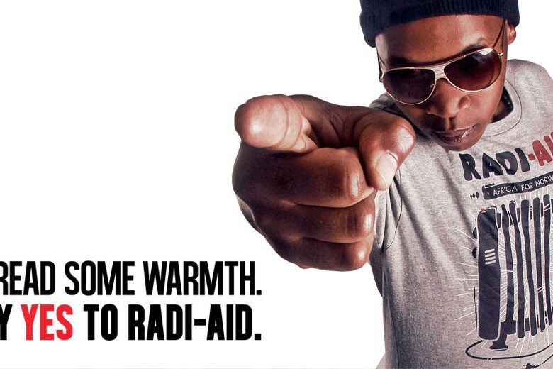 radi aid poster - charity video with bite