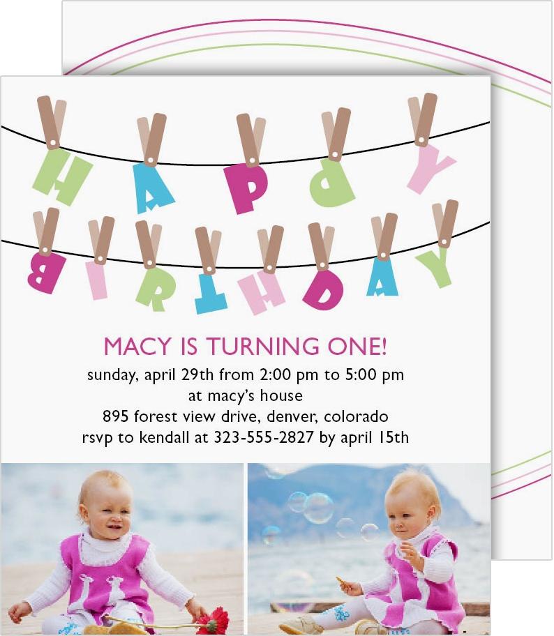 personalized 1st birthday invitations