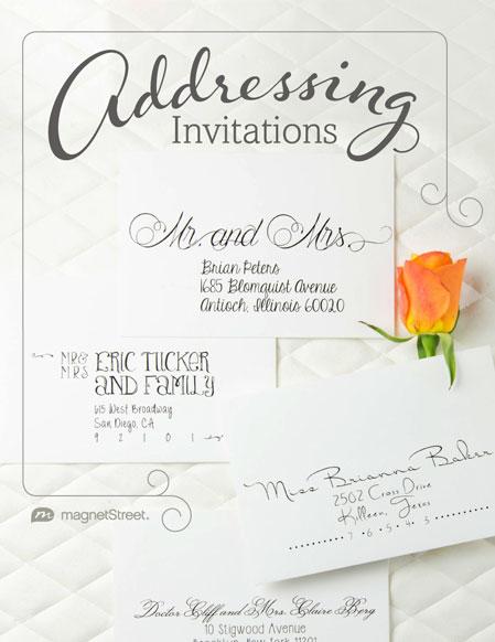 Addressing Mailing Wedding Invitations