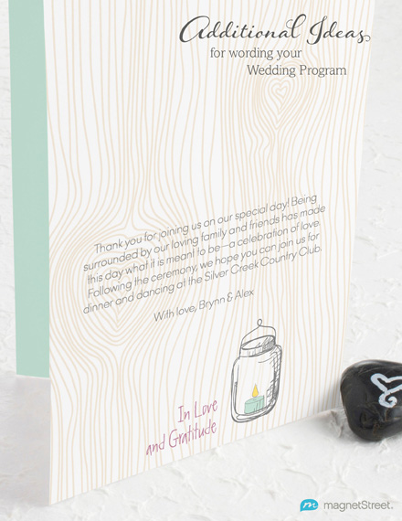 Non Traditional Wedding Ceremony Wording