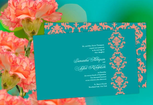 Teal And C Wedding Invitations Ideas Guides