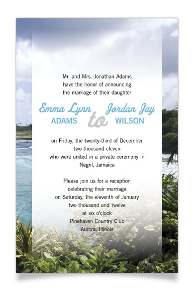 Destination Wedding Invitation