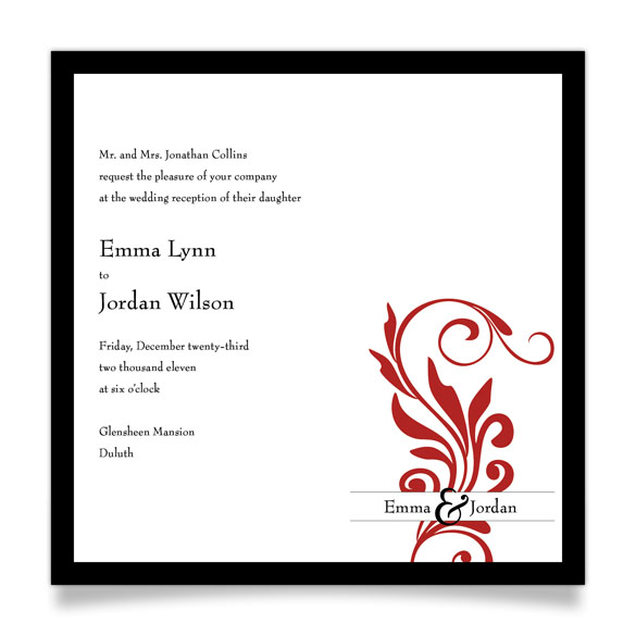 Wedding Reception Invitation Wording Samples From Bride And Groom Vertabox Com