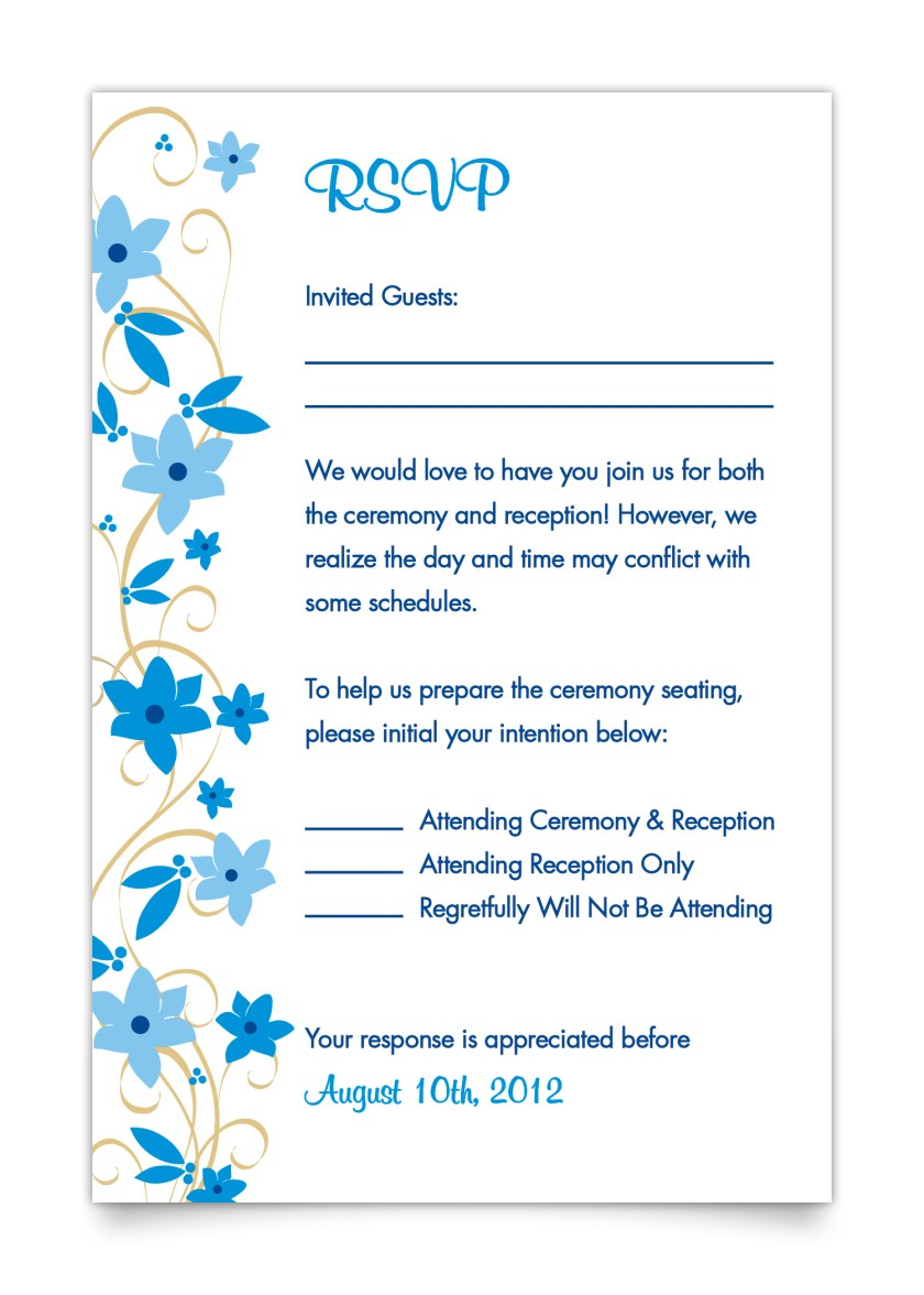 Rsvp Card For Invitation