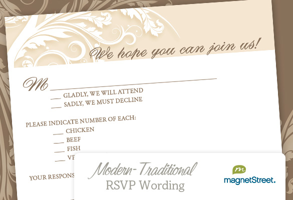 Rsvp Wording Rustic Wedding
