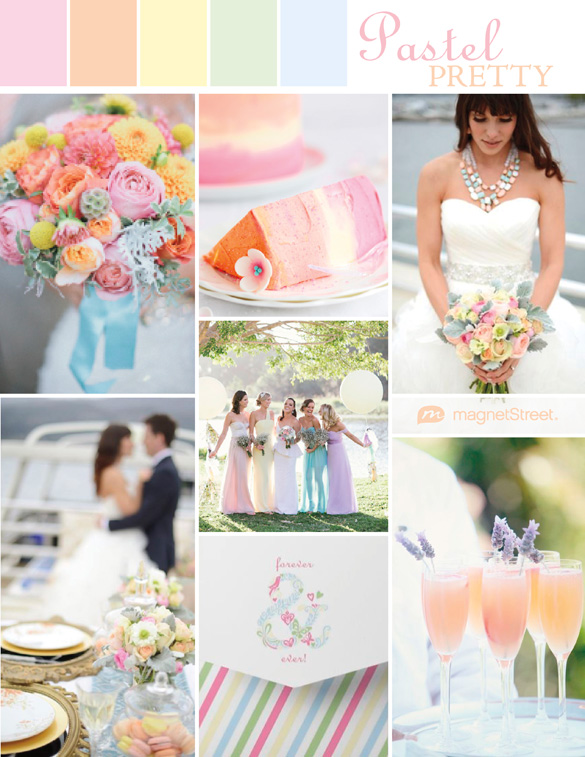 Spring Wedding Colors Ideas Pastel Invitation From Magstreet