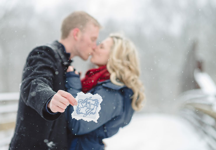 Fun In The Snow Winter Engagement SessionFun In The Snow