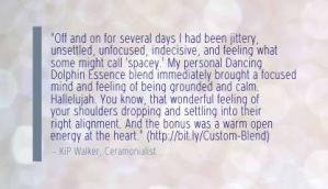 Quote about Dancing Dolphin Essences by Takara