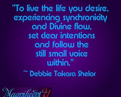 Setting Clear Intentions and Following the Still Small Voice Within