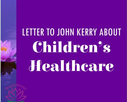 Letter to John Kerry about Children's Healthcare