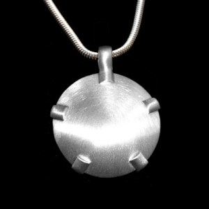 BioElectric Shield Sterling Silver with Sterling Silver Tabs, Brushed Finish EMF Protection