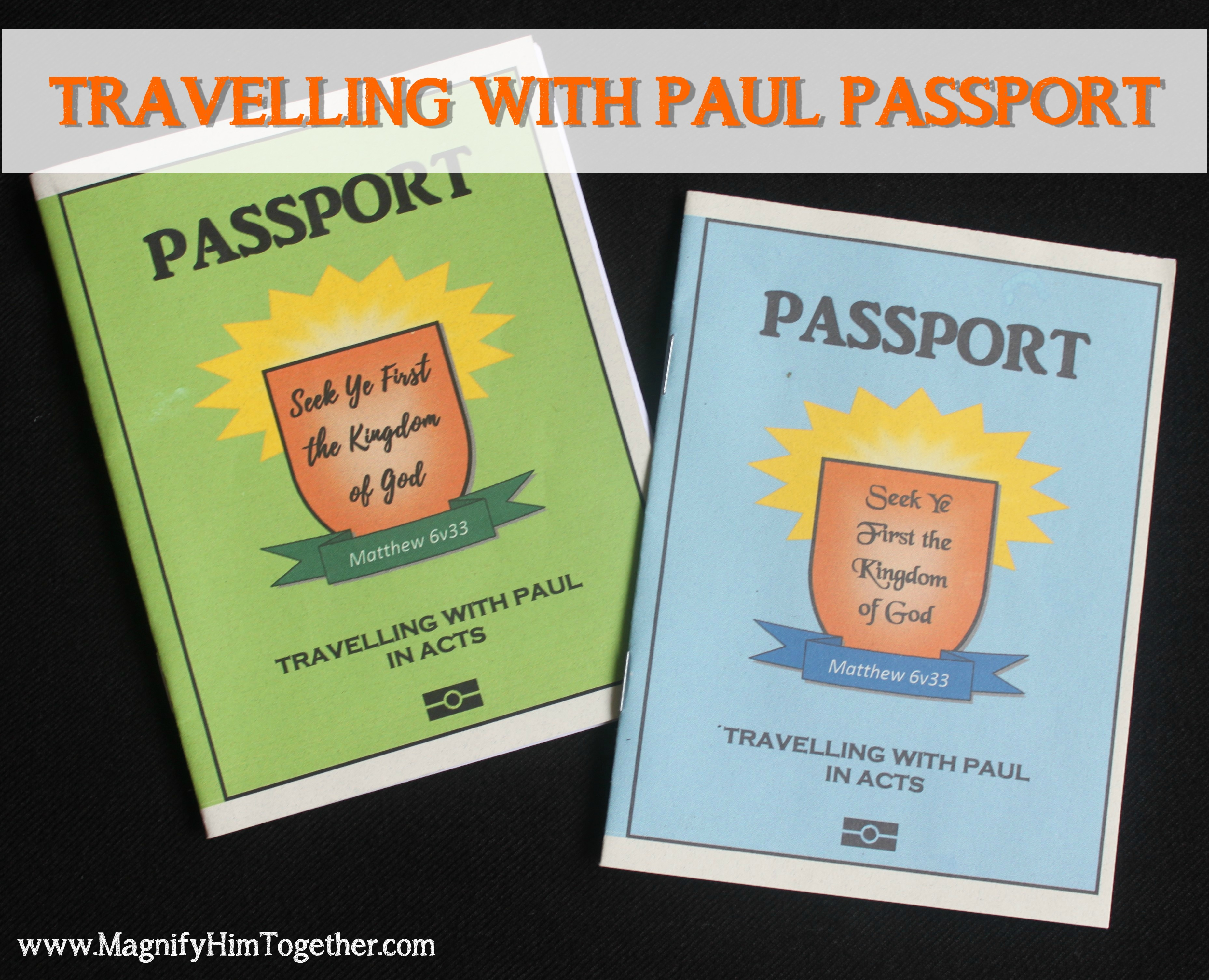 Travelling With Paul Passport Magnify Him Together