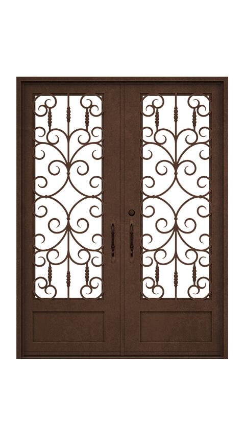 SQUARE TOP - DOUBLE DOOR