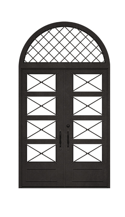 SQUARE TOP DOUBLE DOOR WITH ROUND TRANSOM UNIT