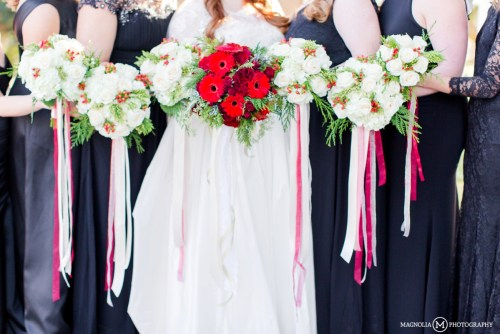 Christmas Themed Bridal Bouquets