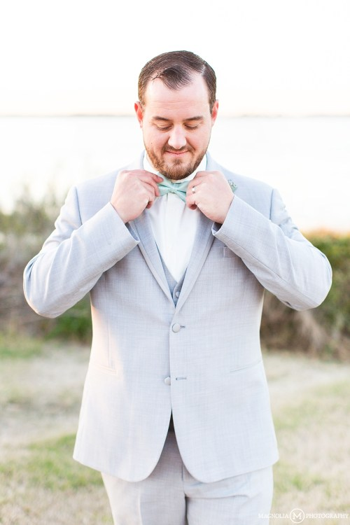 Gray Suit with Mint Bowtie