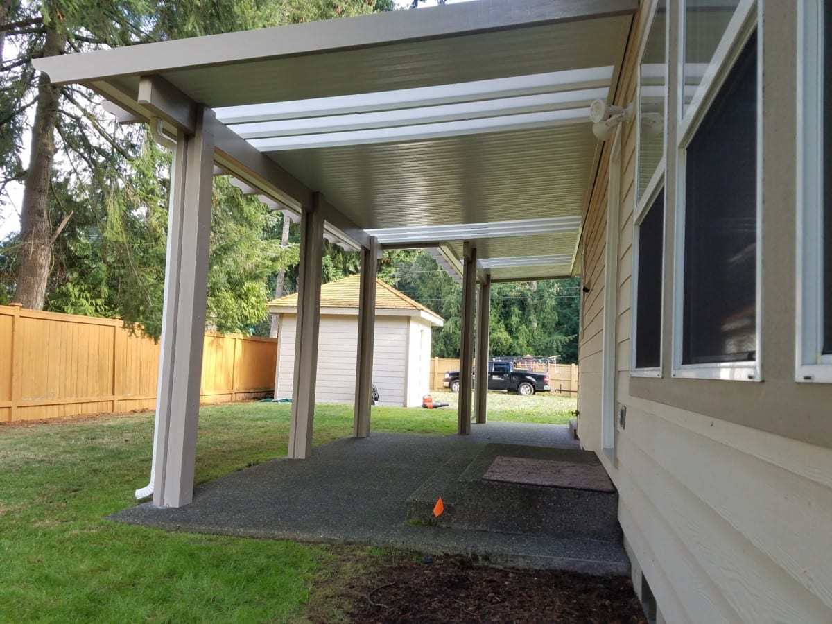 skylight patio cover installation in