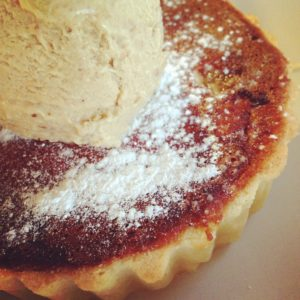 Treacle Tart with Housemade Stem Ginger Ice Cream