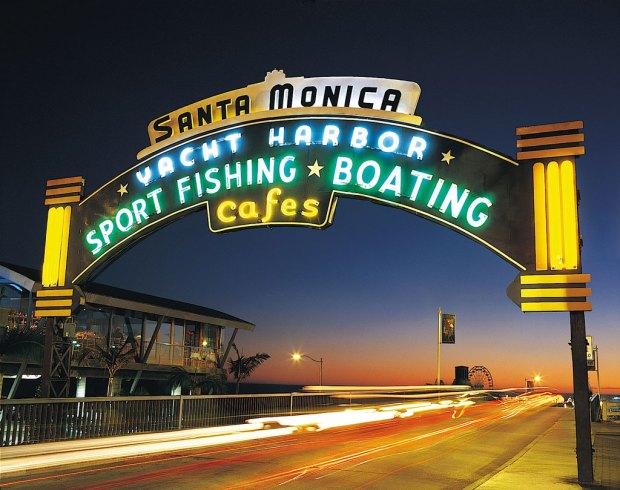 Yacht Harbor Pier, Santa Monica, Califórnia - O início da Rota 66