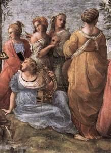 Muses in Raphael's Parnassus (1511)