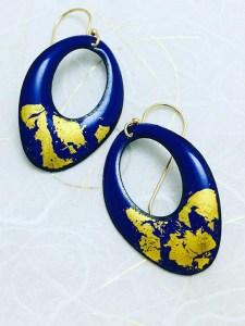 blue-gold-earring
