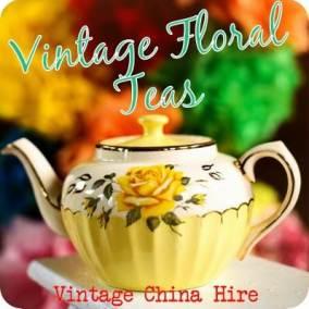 China Hire: Vintage Floral Teas