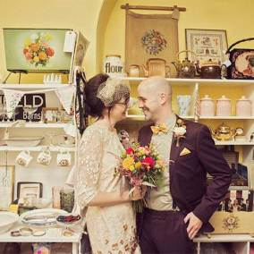 Mr and Mrs Wedding Photography on The National Vintage wedding Fair