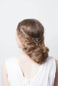 Vintage wedding head piece as seen in Unique Bride Journal