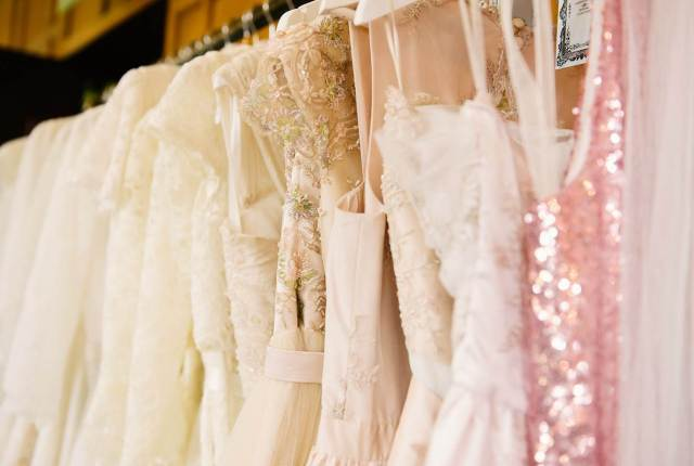 Vintage wedding dresses at The National Vintage Wedding Fair in London Greenwich, taken by Lily Sawyer