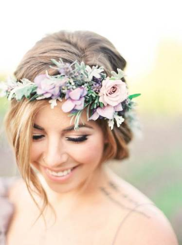 Flower crowns by julie paisley on The National Vintage Wedding Fair blog