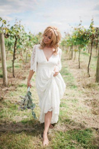 Late 1960s vintage Brigitte Bardot wedding shoot in a vineyard