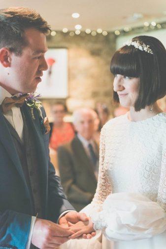 A vintage 1960s wedding dress