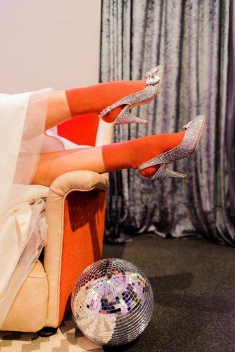 1970s glitter ball disco wedding inspiration