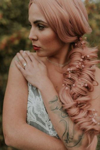 Bridal Inspiration with Lucy Can't Dance in a forest bath tub
