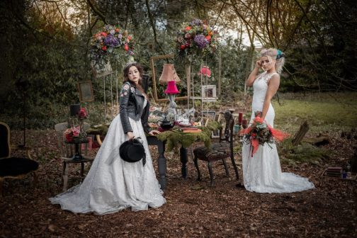 Wonderland Wedding Inspiration with Leather Jackets and Regal Crowns