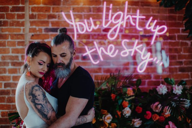 Tropical Neon Wedding Inspiration with Colourful Jungle Vibes