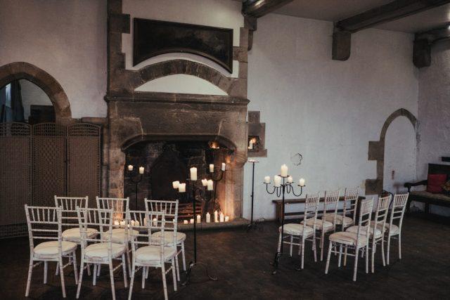 Luxury Labyrinth Halloween Wedding at Bolton Castle