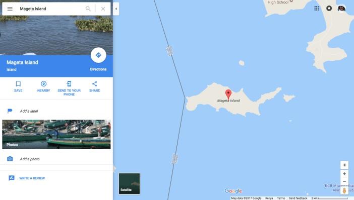 Mageta Island Google Maps
